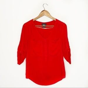 Anthropologie Maeve Red Blouse